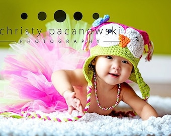PDF Pattern Owly sooo Cute earflat hat Boy and Girl Sizes Preemie to 4 Years No. 11