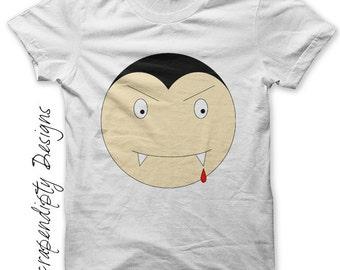 Halloween Iron on Transfer - Iron on Vampire Shirt / Halloween Tshirt / Toddler Vampire Clothes / Kids Boys Clothing Tops / Digital IT47