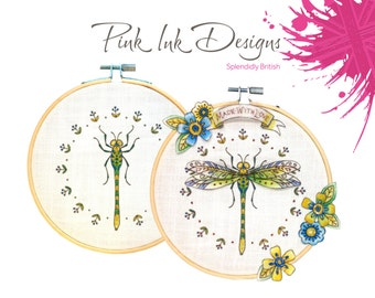Embroidery pattern Dragonfly