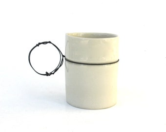 hand built porcelain cup  ...  petite  ...   demitasse