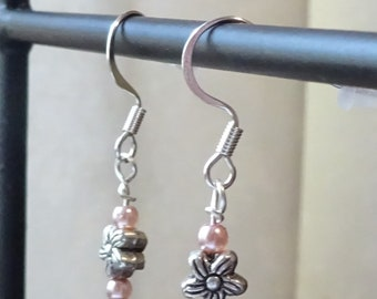 Pink with Silver Beads (E60)