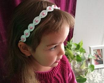 Crochet Headband | One Size Fits All, Crochet Girl's Headband, Girls Headband, White Headband, Wedding Girl Headband, Wedding Headband