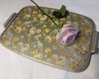 Vintage Embroidered Tray