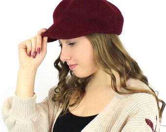 100% Wool Newsboy Cap  Hat More Colors Size (M-L)