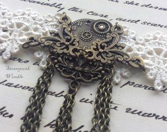 Gothic armlet, Armlet, Steampunk armlet, Lace armlet, Gothic lace armlet, White lace armlet, Retro armlet, White armlet, Vintage style