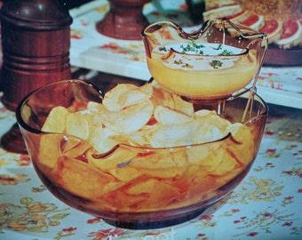 Vintage Anchor Hocking Chip Dip Bowls, Anchor Hocking, Chip Bowl, Vintage Chip Dip Bowl, Anchor Hocking NIB