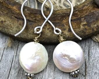Beaded Earrings - Dangle Earrings - Drop Earrings - Boho Earrings - Boho Chic Earrings - Boho Style Earrings - Pearl Earrings