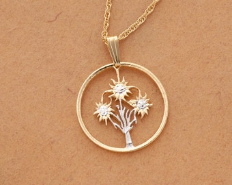 large pendant necklace gold s flower claire rose wire