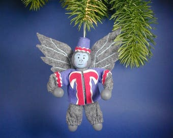 Oz Flying Monkey Clothespin Ornament/ Oz Monkey Ornament/Blue Oz Monkey/Flying Blue Oz Monkey Ornament