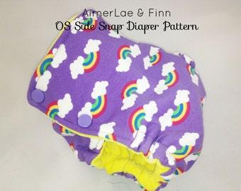 AimerLae & Finn OS Side Snap Diaper PATTERN