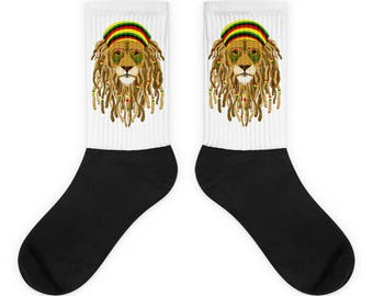 Cool Lion With Dreads- Socks