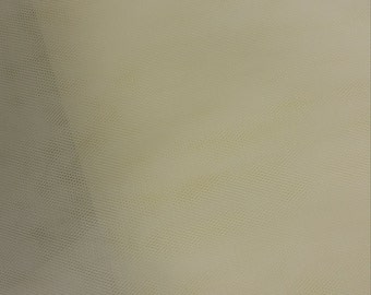 "Pale ivory tulle fabric, for dress tulle, wedding dress tulle - 118"" (300 cm) wide - sold per meter A-01866-3000-F01-707059"