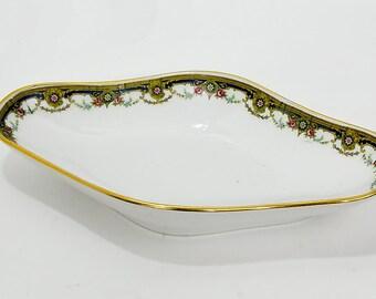 Jean Boyer Limoges France Oblong Porcelain Serving Dish 1919-1934
