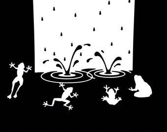 Cuts scrapbooking scrap water pond fishing frog animal scrapbooking embellishment die cut scrap album