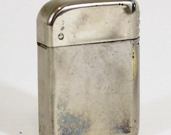 Vintage Cigarette Lighter | Bowers #10 | Vintage 40's Lighter Flip Top Silver Tone | Sparks Needs Lighter Fluid