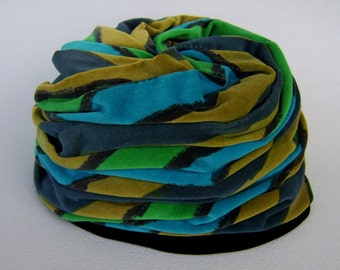Vintage Velvet Hat Union Made Forties