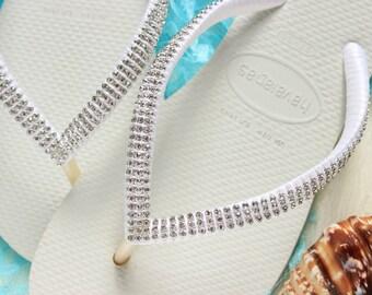92293225a34d01 Havaianas bridal flip flops BLUSH PINK Bridesmaid gift Sandals