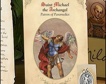 St. Saint Michael Prayer Card & Medal