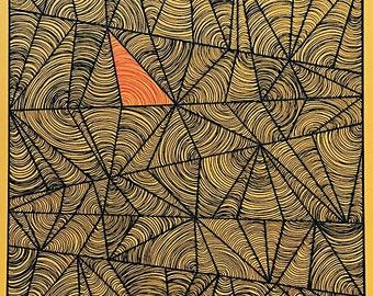 Trippy Triangles - Hand drawn