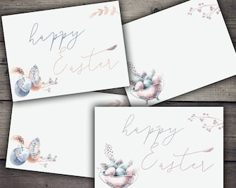 Easter Watercolor Papers - Digital Collage Sheet Printables