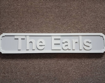 Freestanding 'the surname' sign