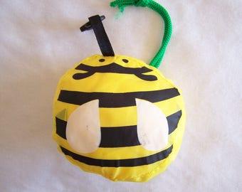 Bag foldable, waterproof, bee motif