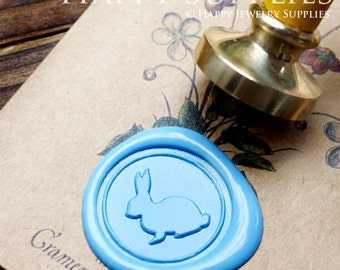 Buy 1 Get 1 Free - 1pcs Rabbit Gold Plated Wax Seal Stamp (WS004)