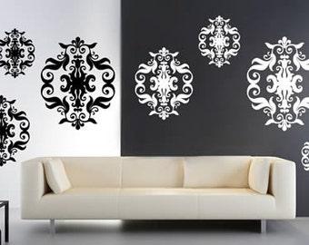 Baroque Tapestry Vinyl Wall Decals
