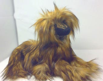 OOAK, Artist Designed Art Doll  Pup, Artist Bear Dog, Dog Plush, Braird, Afghan Hound