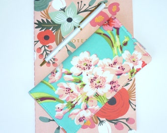 Checkbook Cover. Wallet. Receipt Holder. Bliss Bouquet. Gift For Her.