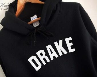 Drake Hoodie Drake Sweater Drake Sweatshirt Drake Fleece Drake Merch Soft Crewneck Sweater Unisex Women Girls Men Black/Grey/Navy XS-2XL