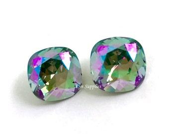 4470 PARADISE SHINE 12mm Swarovski Crystal Fancy Stone Cushion Cut, 2 pieces or 6 pieces