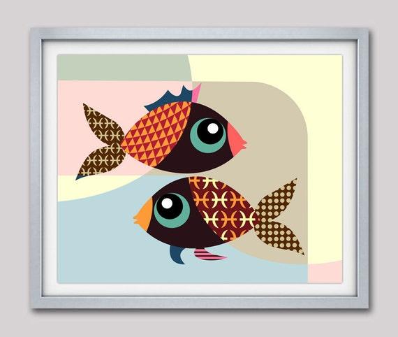 Pisces Art, Pisces Star Sign Poster,  Pisces Gift,  Pisces Print Wall Art,  Pisces Art Print, Zodiac Gift, Horoscope Gift