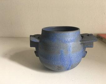Blue Bird Ikebana Vase