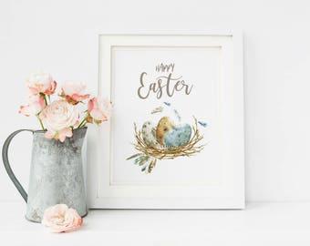 Easter Printable, Easter Decor, Easter Decorations, Easter home Decor, Easter Art, Happy Easter, Easter Wall Art, Spring Wall Art