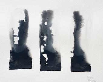 Original Sumie Ink Wash Painting LXXXVI