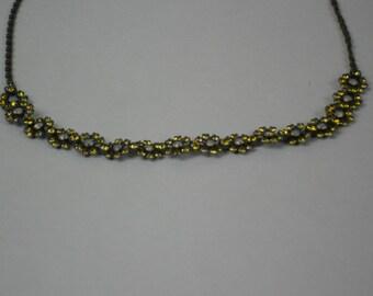 A Vintage Liz Paiacios SF chocker with yellow swarovski crystals