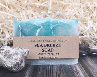 Sea soap Handcrafted Soap Natural Blue Beach soap Artisan soap Homemade soap Cheap Gift Inexpensive Olive oil soap Vegan soap