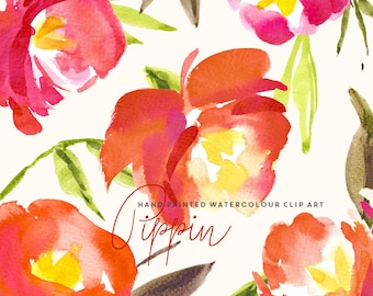 Watercolour Flower Hand Painted Clip Art - Pippin