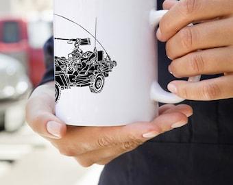 KillerBeeMoto: U.S. Made Willys MB World War Two Scout Jeep Coffee Mug
