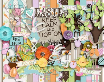 Hop On Easter Digital Scrapbook Kit