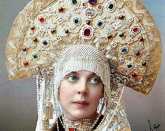 Photo of  Princess Orlova of Russia in Masquerade Costume for the Ball 1905