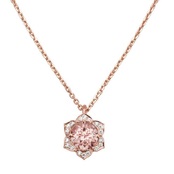 beadage simple late ship morganite pink shop collection oval necklaces necklace sale genuine