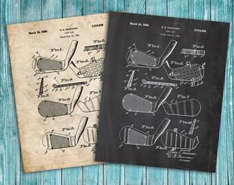 Golf Clubs Patent Print, Golf Patent Art Print, Golf Art, Golf Patent Poster, Golf Print, Golf Decor, Golf Club, Golf Club Decor, Golf Gift