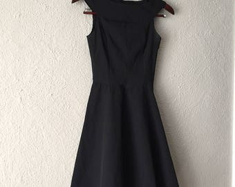 1950s Style Black 1980s Dress size XS - S / 2 - 4  / Made in USA