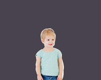 the LITTLE ZIPPY top pdf pattern size 18M to 10
