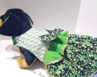 St. Patrick's Small Dog dress/Pet Dress/St. Patrick's Dress