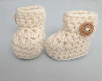 Crochet Pattern Baby Booties, Shoes, Quick & Easy Crochet Pattern,  0-3 months, 3-6 Months, Baby Booty Pattern,  Booties in under 30 minutes
