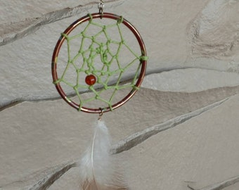 Cloisonne Dreamcatcher with single feather