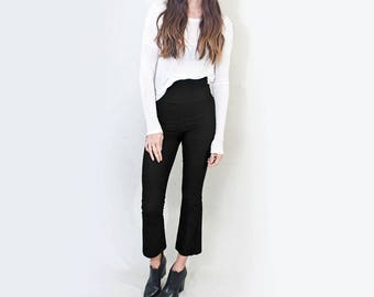 Bohemian Cropped Flares | Women's Minimalist Flared Pants | High Waist Bottoms | Tall Length | Made in our USA loft | L415 & Co (#415-33)